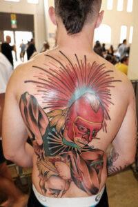 colourful back tattoo