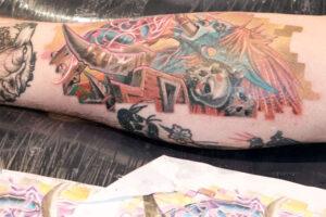 colour forearm tattoo